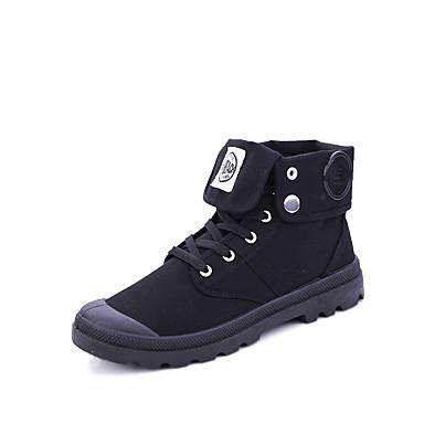 メンズ 靴 繊維 春 秋 冬 コンフォートシューズ ファッションブーツ ブーツ 用途 カジュアル ブラック ベージュ Brown
