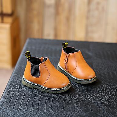 Bootsit-Tasapohja-Tyttöjen-Mikrokuitu-Musta Keltainen-Rento-Comfort