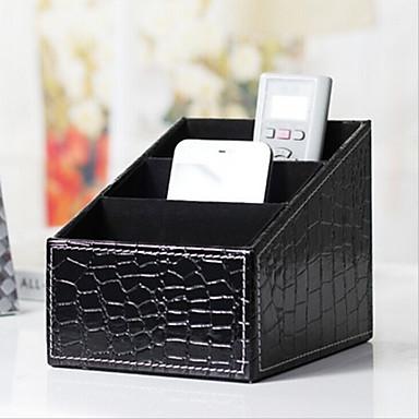 Meikkilaukku Cosmetic Box Meikkien säilytys Yhtenäinen PU Musta Fade Normaali
