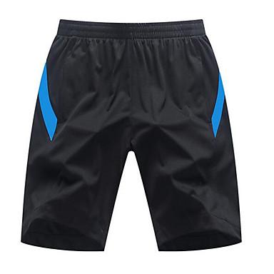 男性用 ランニングショーツ - レッドとブラック, 黒 / 緑, 黒 / 青 スポーツ 縞柄 ショートパンツ アクティブウェア 速乾性, ソフト, 快適 伸縮性あり, 高弾性