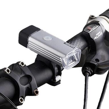 Luzes de Bicicleta LED LED Ciclismo Recarregável Regulável Impermeável Bateria de Lítio 70 LUX Lumens USB Branco Natural Campismo /