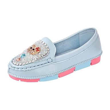 Tyttöjen Kengät PU Comfort Mokkasiinit Käyttötarkoitus Kausaliteetti Valkoinen Fuksia Sininen Pinkki