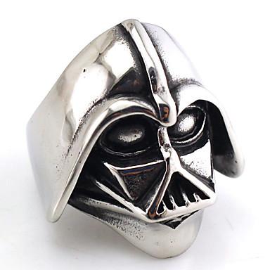 Ringer Ikke-stein Party / Daglig Smykker Titanium Stål Herre Ring 1 stk,En størrelse Sølv