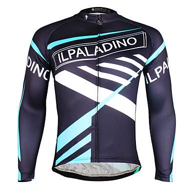 ILPALADINO Pyöräily jersey Miesten Pitkähihainen Pyörä Jersey Topit Pyöräilyvaatteet Nopea kuivuminen Ultraviolettisäteilyn kestävä