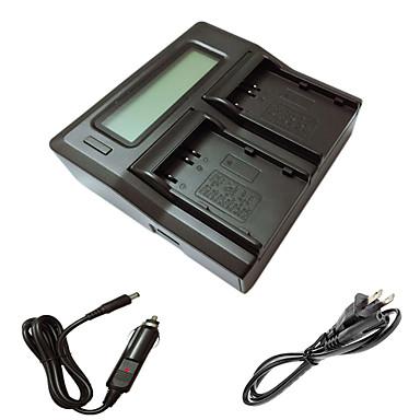 ニコンD90 D80 D300S D300 D700 D200 enel3eカメラbatterysのための車の充電ケーブルでismartdigi el3e液晶デュアル充電器