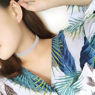 女性用  -  ラインストーン 欧風, ファッション ホワイト, 虹色 ネックレス 用途 結婚式, パーティー, 日常