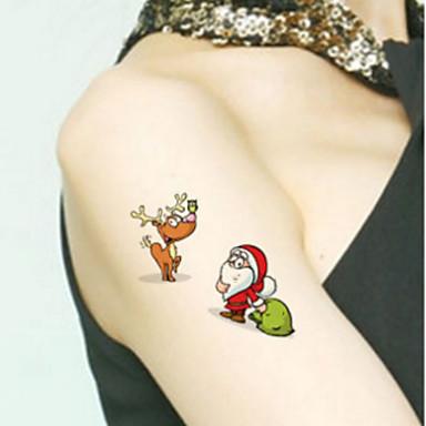 Non Toxic / Modelo / Parte Lumbar manos / brazo / muñeca Los tatuajes temporales 1 pcs Series de Tótem / Series de Animal / Serie de dibujos animados Artes de cuerpo