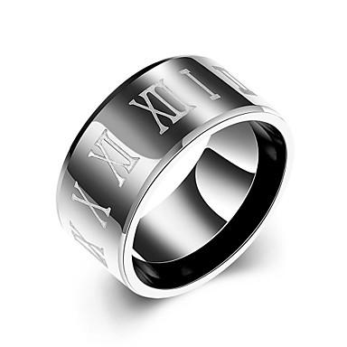 Homens Anel - Aço Inoxidável Europeu 7 / 8 / 9 / 10 Preto Para Casamento Festa Diário