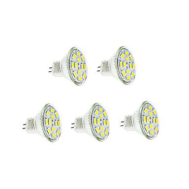 abordables Ampoules électriques-5pcs 3 W Ampoules à Filament LED 250-300 lm GU4(MR11) 12 Perles LED SMD 5730 Blanc Chaud Blanc Froid 12 V / 5 pièces