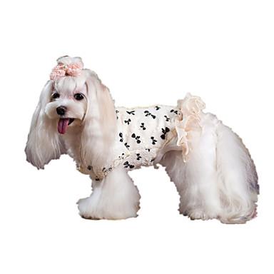 Hund Frakker Hundeklær Hold Varm Sløyfeknute Hvit Kostume For kjæledyr