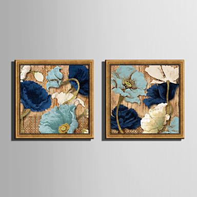 Kukkakuvio/Kasvitiede Kehystetty kanvaasi / Kehystetty setti Wall Art,PVC materiaali Kulta Ei taustalevyä Frame For KodinsisustusFrame