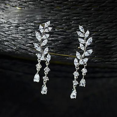 Dame Rhinstein Strass Sølvplett Smykker Bryllup Fest Kostyme smykker