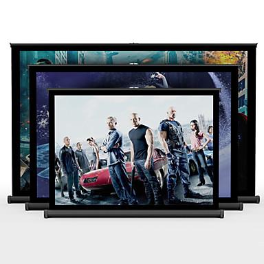 50 אינץ '4: 3 קומת מסך הקרנת שולחן שולחן נייד הלבן מאט עומד מפגש מקרן מסך קולנוע ביתי מסך