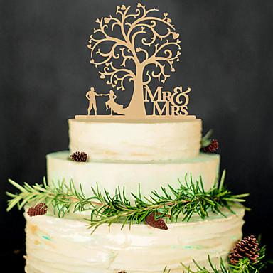 Casamento / Festa / Festa de Casamento Madeira Decorações do casamento Tema Clássico Inverno Primavera Verão Outono Todas as Estações