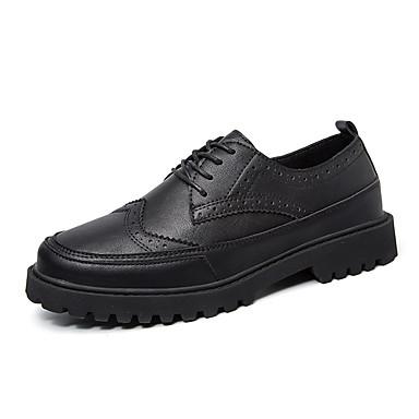 メンズ 靴 レザーレット 春 秋 冬 コンフォートシューズ ファッションブーツ オックスフォードシューズ 用途 カジュアル ホワイト ブラック Brown
