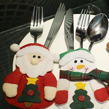 3kpl joulu tuotteet joulupukki pöytä pöytäkalusto laukku kuvio on satunnainen