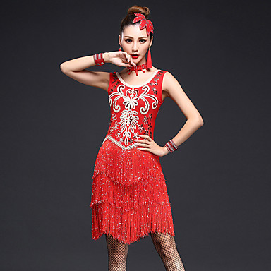 latin tanssivaatteet naisten suorituskyky 4 kpl mekko must we®