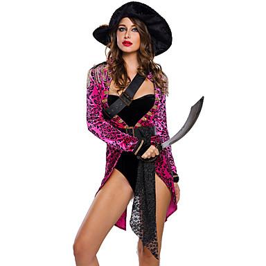 Merirosvo ura Puvut Cosplay-Asut Naamiaisasu Juhla-asu Naisten Halloween Karnevaali Festivaali / loma Halloween-asut Leopardi