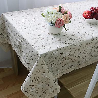 Suorakulma Kukka Table Cloths , Mélange Lin/Coton materiaali Häät Illallinen sisustus Favor Sisustus Hotel ruokapöytä Häät Party Sisustus