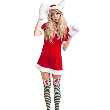 Festival/høytid Halloween-kostymer Solid Kjole Hansker Jul Kvinnelig Polyester