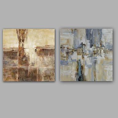 Håndmalte Abstrakt Klassisk Moderne Lerret Hang malte oljemaleri Hjem Dekor To Paneler