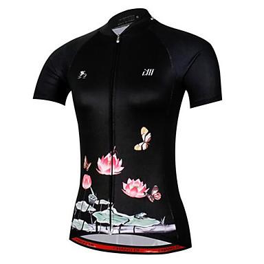 Pyöräily jersey Naisten Lyhythihainen Pyörä Jersey Nopea kuivuminen Anatominen tyyli Hengittävä Pehmeä Luistonesto Rajoittaa bakteereja
