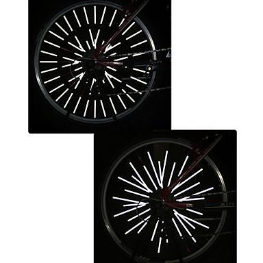 Faixa Refletiva / luzes da roda Luzes de Bicicleta Ciclismo Impermeável, Cortável, Adequado Para Veículos Outro Oother Branco Ciclismo