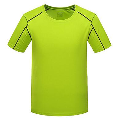 Herre T-skjorte til jogging Kortermet Fort Tørring Pustende T-Trøye Topper til Trening & Fitness Racerløp Basketball Fotball Løp Polyester