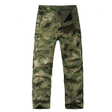Päällyshousut metsästykseen, maastokuvioidut Unisex Vedenkestävä / Pidä lämpimänä / Tuulenkestävä naamiointi Softshell-takit varten