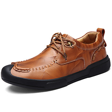 Men's Nappa Leather Fall / Winter Comfort Oxfords Black / Light Brown / Party & Evening