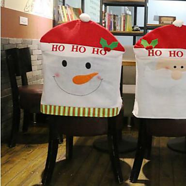 Cobertor de Sillas Vacaciones Inspirador Navidad Dibujos Dibujos animados Navidad Fiesta Decoración navideña