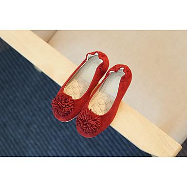 Tyttöjen kengät Nahka Tasapohjakengät Käyttötarkoitus Kausaliteetti Harmaa Punainen Pinkki Vaalean ruskea