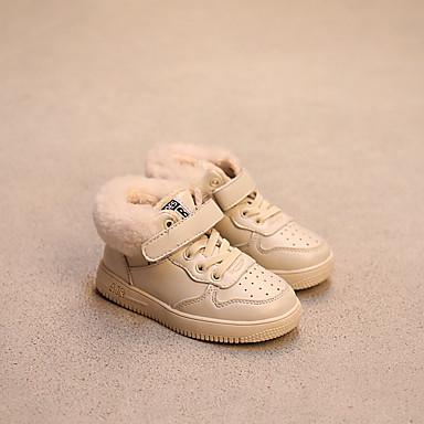 Bootsit-Tasapohja-Tyttöjen-Tekonahka-Musta Hopea Beesi-Rento-Comfort