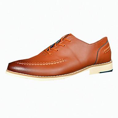 Oxford-kengät-Tasapohja-Miesten-Nahka-Musta Ruskea Punainen-Rento-Comfort