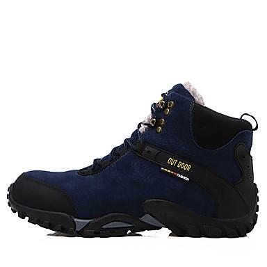 halpa Miesten kengät-Miesten Fashion Boots Spandex / Nahka / Mokkanahka Syksy / Talvi Cowboy / bootsit Bootsit Vaellus Nilkkurit Musta / Sininen