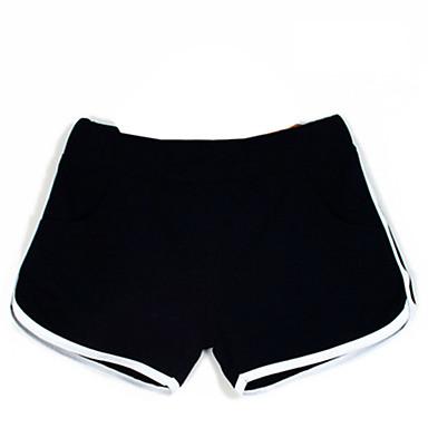 女性用 ランニングショーツ 高通気性 快適 ショートパンツ ボトムズ ヨガ エクササイズ&フィットネス レジャースポーツ ランニング コットン スリム ブラック グレー ローズレッド ブルー S M L XL