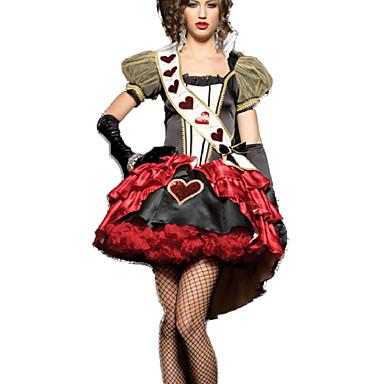 Cosplay-Asut Päähine Kruunu Juhla-asu Naamiaisasu Kuningatar Satuteema Elokuva Cosplay Punainen Leninki Headwear Joulu Halloween