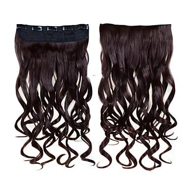 На клипсе Расширения человеческих волос Волнистый 1шт / уп 24 дюйм