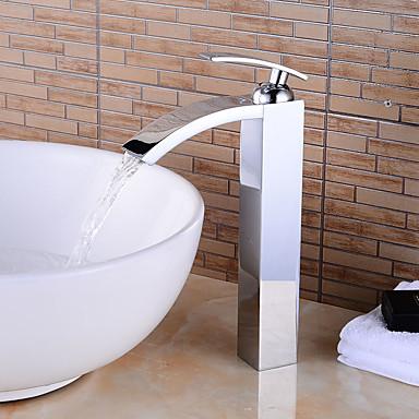 浴槽用水栓 - プレリンス / 滝状吐水タイプ / 組み合わせ式 クロム センターセット シングルハンドル二つの穴