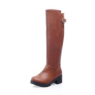 Dame Sko Kunstlær Lakklær Vår Høst Vinter Kampstøvler Ankelstøvel Motorsykkelstøvler Trendy støvler Ridestøvler Snøstøvler