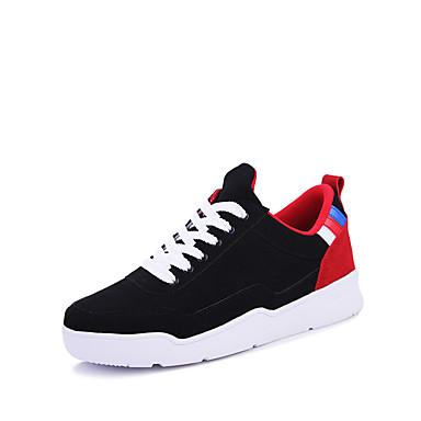 メンズ 靴 繊維 春 夏 秋 冬 コンフォートシューズ スニーカー 用途 カジュアル ホワイト ブラック レッド ブラック/レッド