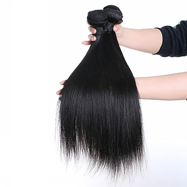 3 مجموعات شعر برازيلي مستقيم شعر عذراء ينسج شعرة الإنسان ينسج شعرة الإنسان شعر إنساني إمتداد