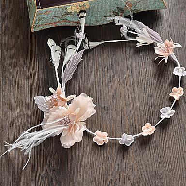 成人用 ラインストーン 人造真珠 ファブリック かぶと-結婚式 パーティー カジュアル ティアラ 1個