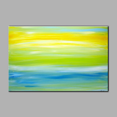 Håndmalte Abstrakt / fantasi olje malerier,Moderne / Europeisk Stil Et Panel Lerret Hang malte oljemaleri For