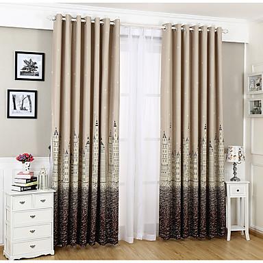One Panel Window Hoito Moderni Lastenhuone Polyester/puuvillaseos materiaali Pimennysvuoritus Drapes Kodinsisustus For Ikkuna