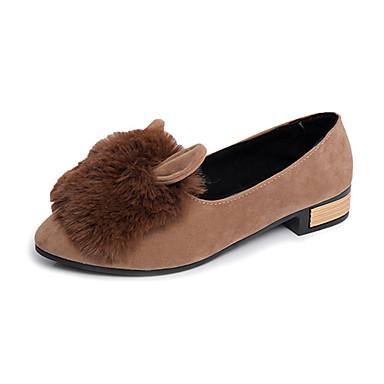 Dame-PU-Tykk hæl-Komfort-Høye hæler-Fritid-Svart Grå Kakifarget