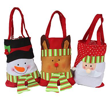 3pcsの創造的な家庭用ユーティリティギフトステレオクリスマス雪だるまキャンディーバッグクリスマスギフトバッグクリスマスギフトバッグクリスマスバッグ