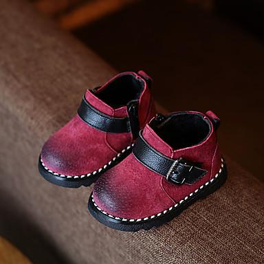 BootsitTyttöjen-Nahka-Harmaa Punainen Vihreä-Rento-Comfort