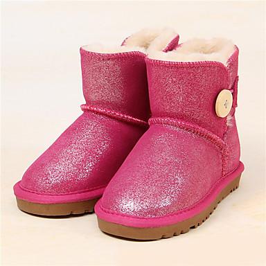 Tyttöjen Kengät Glitter Talvi Talvisaappaat Comfort Bootsit Tasapohja Paljeteilla Käyttötarkoitus Kausaliteetti Oranssi Fuksia Vaalea