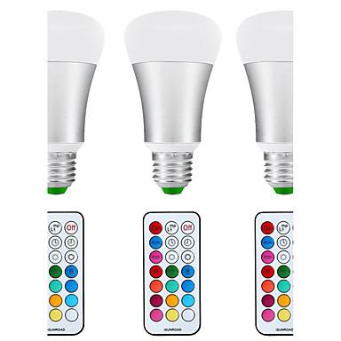 abordables Ampoules électriques-3pcs 8.5 W Ampoules Globe LED 880 lm E26 / E27 A80 1 Perles LED COB Imperméable A détecteur Capteur infrarouge Blanc Naturel RVB 85-265 V / Intensité Réglable / 3 pièces / RoHs